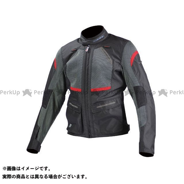 送料無料 コミネ KOMINE ジャケット JK-102 プロテクトツーリングメッシュジャケット ブラック/レッド SL