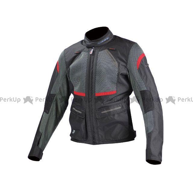 送料無料 コミネ KOMINE ジャケット JK-102 プロテクトツーリングメッシュジャケット ブラック/レッド L