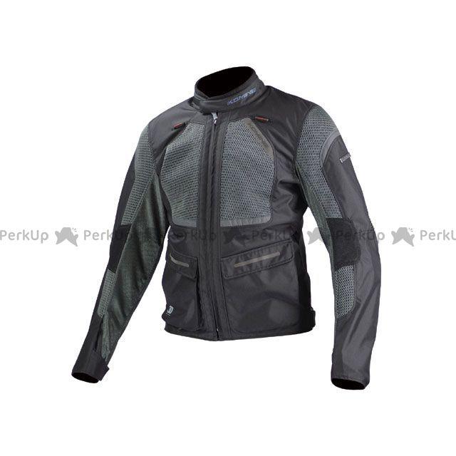 送料無料 コミネ KOMINE ジャケット JK-102 プロテクトツーリングメッシュジャケット ブラック/グレー L