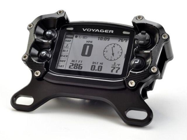 トレイルテック 汎用 メーターカバー類 Voyagerメーター用トップマウントプロテクター:025-TM(アルミニウムマウント) ブラック