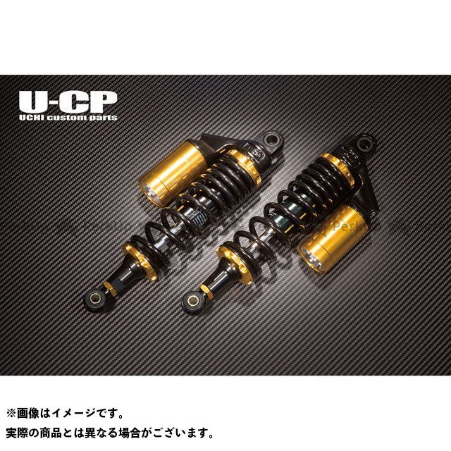 ウチカスタム イナズマ1200 リアサスペンション スプリング:ブラック リング:ゴールド Uchi Custom Parts