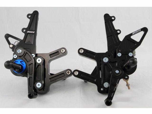 ドリブン GSX-R1000 バックステップ関連パーツ D-Axis バックステップ Suzuki GSX R1000 2007-2008(ステップタイプ:ストリート、エキセントリックカラー:レッド) GPスタイル ブラック