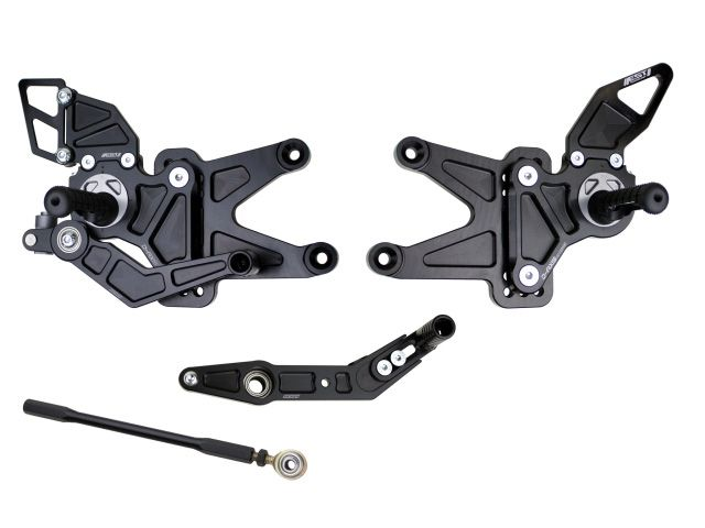 ドリブン CBR600RR バックステップ関連パーツ D-Axis バックステップ Honda CBR 600 RR 2007-2011(ステップタイプ:ストリート、エキセントリックカラー:レッド) ストリート ゴールド