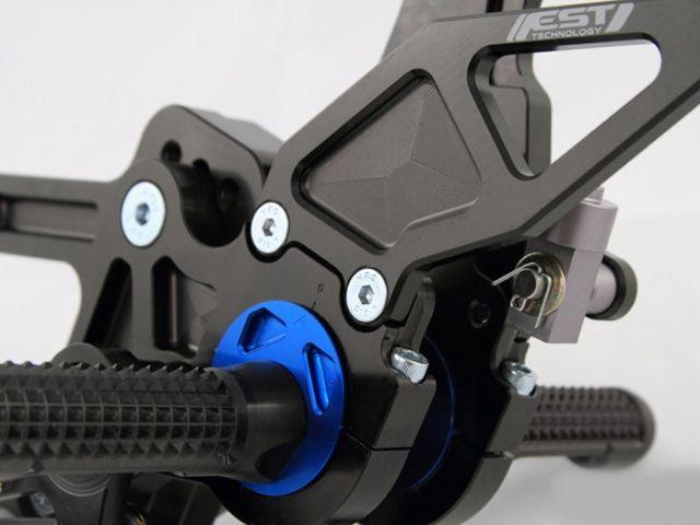 ドリブン CB1000R バックステップ関連パーツ D-Axis バックステップ Honda CB 1000R 2008-2012(ステップタイプ:ストリート、エキセントリックカラー:レッド) ストリート ブルー