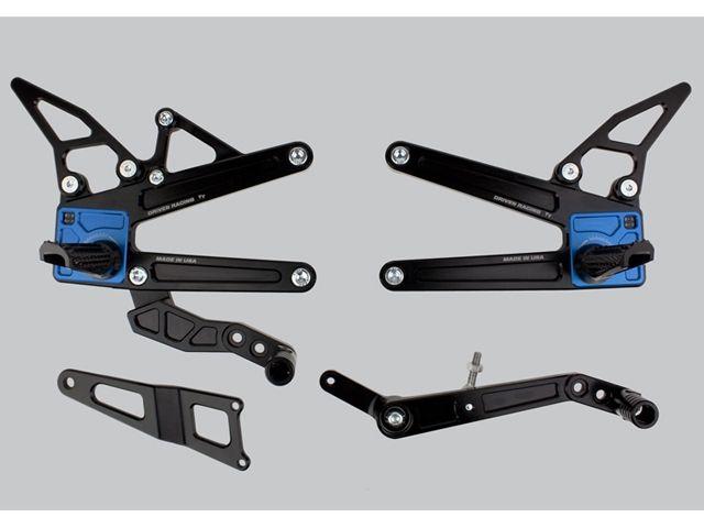 ドリブン YZF-R1 YZF-R1M バックステップ関連パーツ D-Axis TTバックステップ Yamaha R1、R1/M 2015 YZF-R1M シルバー