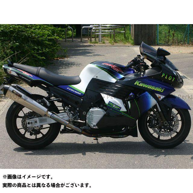 ノジマ ZZR1400 LOCK-ON TYP-SC TWIN-TAIL 機械曲げチタンフルエキゾースト NOJIMA