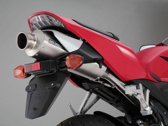BMS CBR600RR マフラー本体 オーバル フルエキ(チタンソリッドサイレンサー)