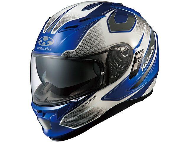 送料無料 OGK KABUTO オージーケーカブト フルフェイスヘルメット KAMUI-II STINGER(カムイ・2 スティンガー) ブルー/ホワイト L/59-60cm