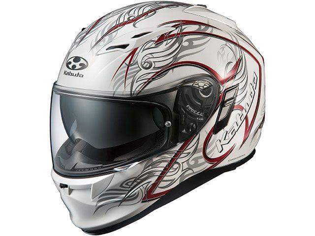 送料無料 OGK KABUTO オージーケーカブト フルフェイスヘルメット KAMUI-II TRIRUG(カムイ・2 トライラグ) パールホワイト/レッド S/55-56cm