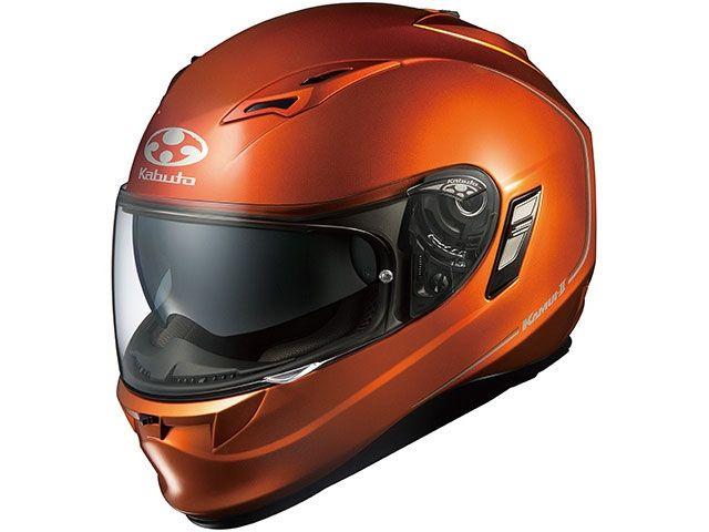 送料無料 OGK KABUTO オージーケーカブト フルフェイスヘルメット KAMUI-II(カムイ・2) シャイニーオレンジ L/59-60cm