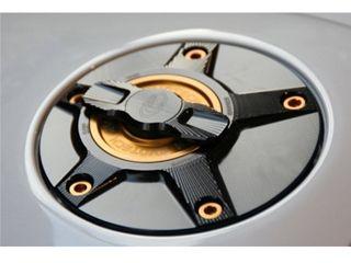 送料無料 エボテック EVOTECH タンク関連パーツ ラピッドタンクキャップ SUZUKI チタニウム シルバー ゴールド