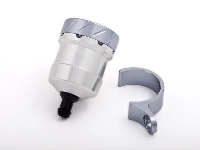 送料無料 エボテック 汎用 ラジエター関連パーツ フルードリザーバータンク 15cc ストレート シルバー チタニウム レッド