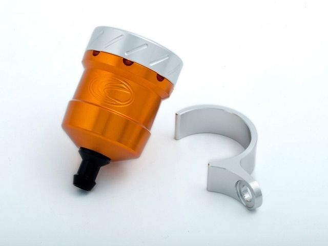送料無料 エボテック 汎用 ラジエター関連パーツ フルードリザーバータンク 15cc ストレート オレンジ シルバー レッド