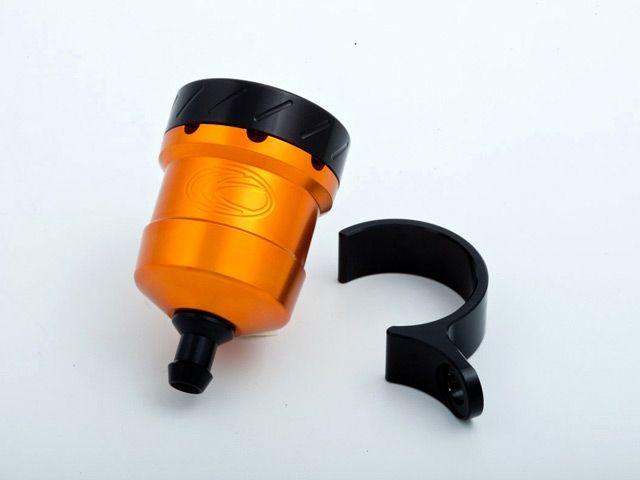 送料無料 エボテック 汎用 ラジエター関連パーツ フルードリザーバータンク 15cc ストレート オレンジ ブラック チタニウム