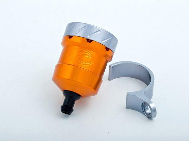 送料無料 エボテック 汎用 ラジエター関連パーツ フルードリザーバータンク 15cc ストレート オレンジ チタニウム レッド