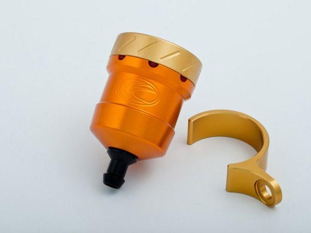 送料無料 エボテック 汎用 ラジエター関連パーツ フルードリザーバータンク 15cc ストレート オレンジ ゴールド レッド