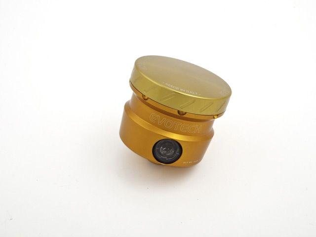 送料無料 エボテック 汎用 ラジエター関連パーツ フルードリザーバータンク 30cc ストレート オレンジ ゴールド