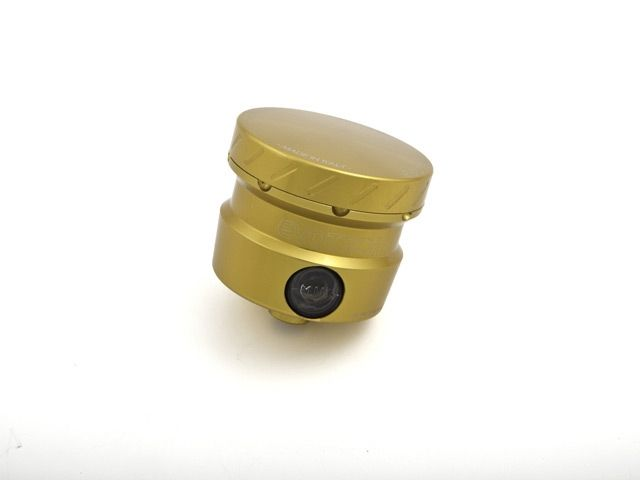 送料無料 エボテック 汎用 ラジエター関連パーツ フルードリザーバータンク 30cc L90° ゴールド ゴールド