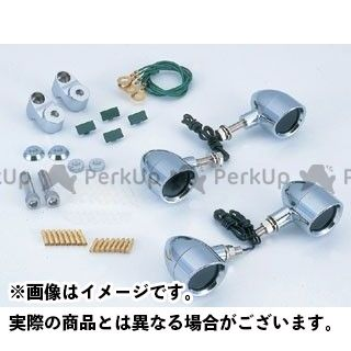 送料無料 クリエイティブ・ファクトリー ポッシュ C.F.POSH ウインカー関連パーツ ブリムタイプ ボルトオンウインカーキット メッキ メッキ