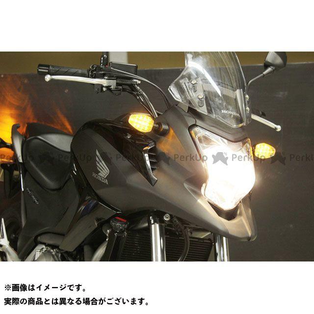 ポッシュフェイス NC700S NC700X ライトウェイトLEDウインカーキット ボディカラー:メッキ レンズカラー:オレンジ POSH Faith
