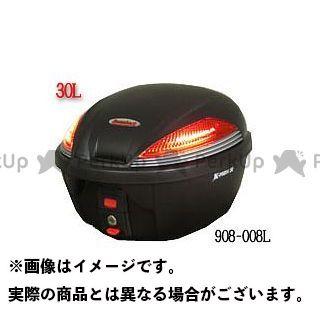 キジマ KIJIMA Reembark リアボックス LEDランプ内蔵タイプ 50L K-22(ブラック/ブラック)
