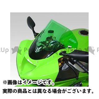 送料無料 イソッタ ニンジャZX-6R スクリーン関連パーツ KAWASAKI Ninja ZX6R 636 2003-2004年 ウインドシールド ダブル バブル ダーク・グレー