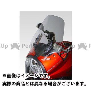 送料無料 イソッタ ヴェルシス650 スクリーン関連パーツ KAWASAKI Versys 650 ウインドシールド ダブル バブル ハイプロテクション ライト・グレー
