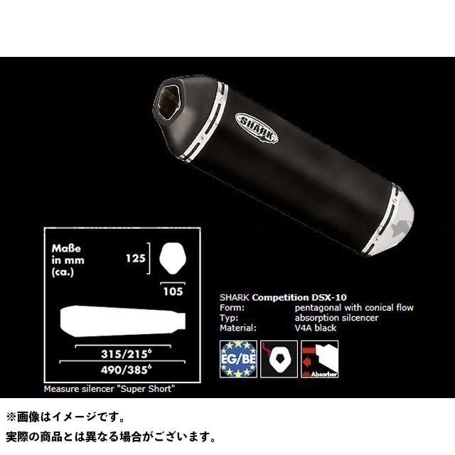 シャーク FZS600フェザー YAMAHA FZS 600 Fazer/S(03-) スリップオンサイレンサー DSX-10 ステンレスブラック SHARK