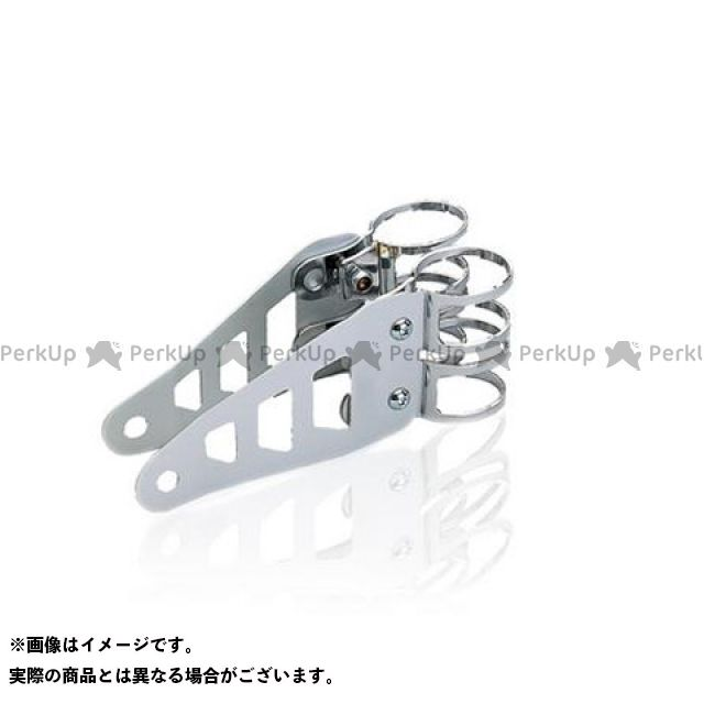 送料無料 バラクーダ 汎用 電装ステー・カバー類 ユニバーサル ヘッドライトブラケット/diameter 43-46 ステンレス