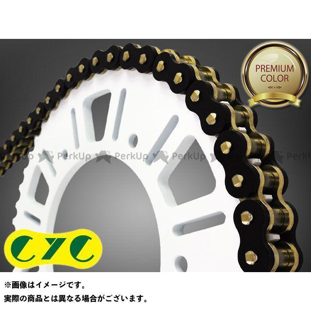 送料無料 CYC シーワイシー チェーン関連パーツ バイクチェーン:525-120L カラーシールチェーン ブラック/ゴールド