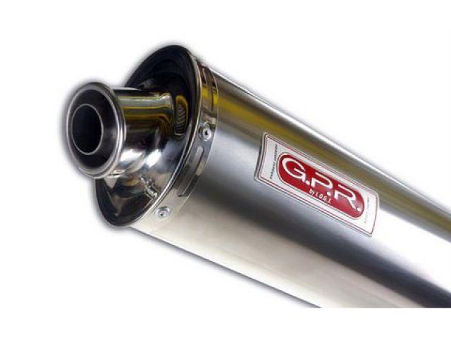 送料無料 GPR Vストローム650 マフラー本体 スリップオンマフラー SUZUKI V-STROM 650 2/1 con catalizz. 2005/30 Exhaust Stainless Oval
