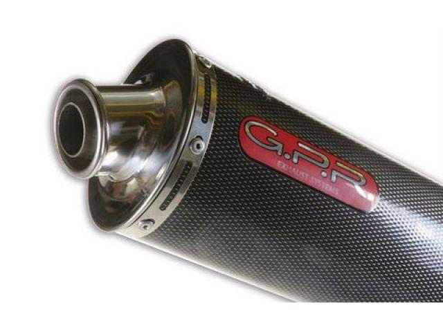 送料無料 GPR SV650 マフラー本体 スリップオンマフラー SUZUKI SV 650 2006 Exhaust Carbon Look Oval
