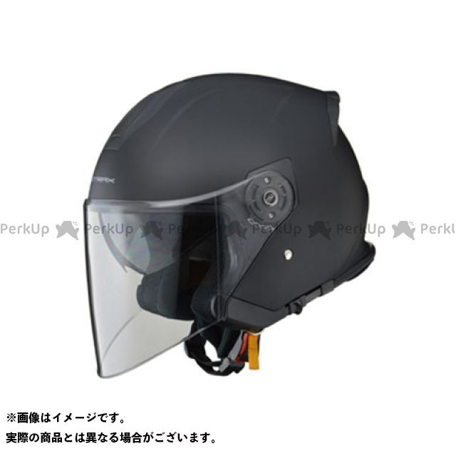 リード工業 STRAX SJ-10 インナーシールド付きジェットヘルメット マットブラック LEAD工業
