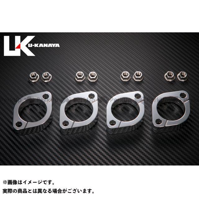 ユーカナヤ GPZ750 GPz750F アルミ削り出しエキゾーストフランジ カラー:シルバー U-KANAYA