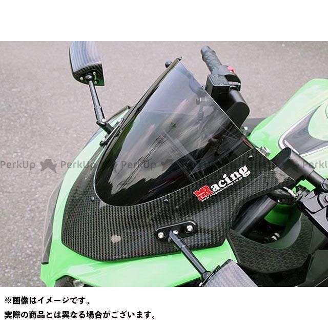 送料無料 マジカルレーシング ニンジャ250 スクリーン関連パーツ カーボントリムスクリーン 平織りカーボン製 クリア