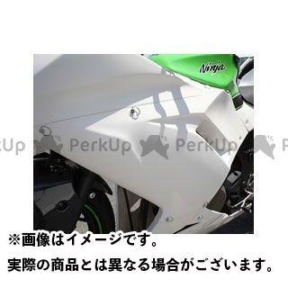 【エントリーで最大P21倍】マジカルレーシング ニンジャ250 サイドカウル 左右セット 材質:FRP製・白 Magical Racing