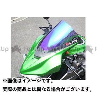マジカルレーシング Z1000 バイザースクリーン(FRP製・黒/一部カーボン製) 平織りカーボン製 クリア Magical Racing