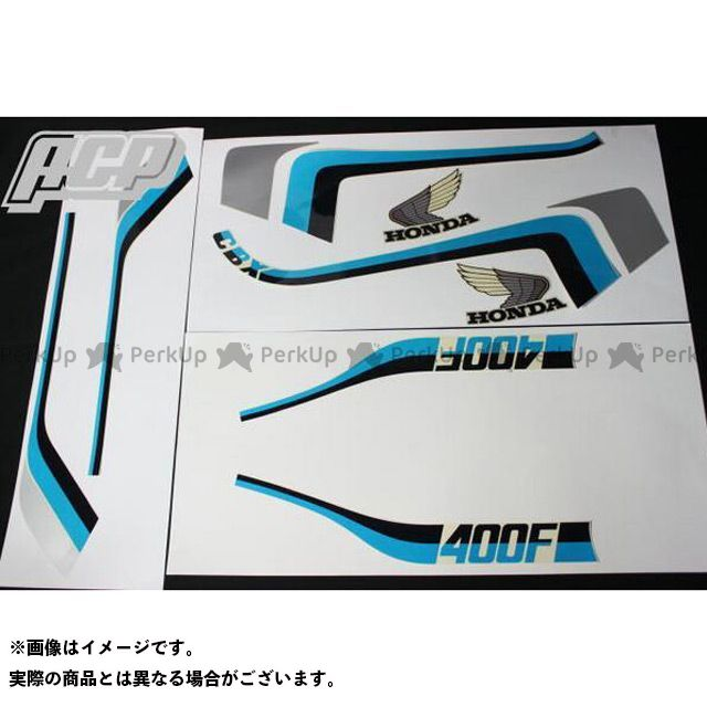 ACP エーシーピー CBX550F タイプ ラインステッカー 青/白