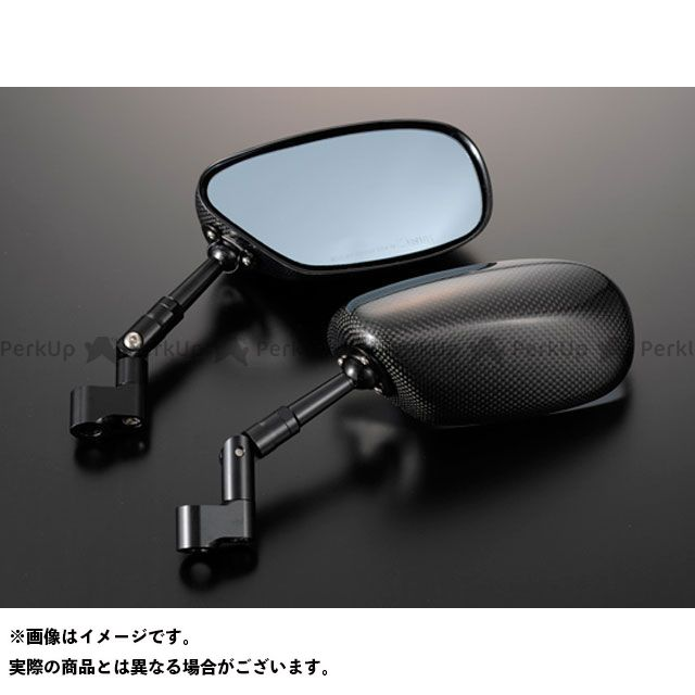マジカルレーシング 汎用 NK-1ミラー・タイプ1ヘッド スーパーロングステム ヘッド素材:平織りカーボン製 ステムカラー:ブラック タイプ:正ネジ10mm/正ネジ10mm Magical Racing