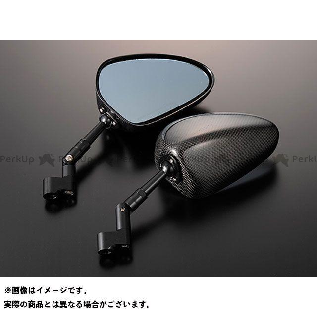 マジカルレーシング 汎用 NK-1ミラー・タイプ2ヘッド ショートステム ヘッド素材:綾織りカーボン製 ステムカラー:シルバー タイプ:逆ネジ8mm/逆ネジ8mm Magical Racing