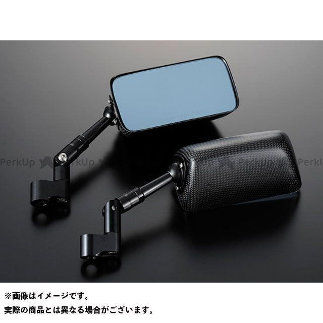 送料無料 マジカルレーシング 汎用 ミラー関連パーツ NK-1ミラー・タイプ3ヘッド ショートエルボステム 平織りカーボン製 シルバー 正ネジ8mm/正ネジ8mm