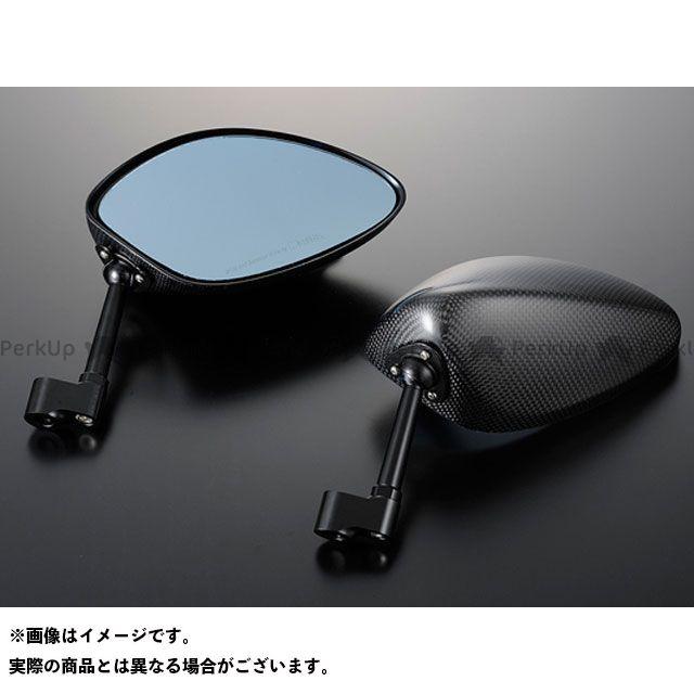 送料無料 マジカルレーシング 汎用 ミラー関連パーツ NK-1ミラー・タイプ4ヘッド ロングエルボステム 平織りカーボン製 シルバー 正ネジ10mm/正ネジ10mm