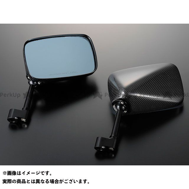 送料無料 マジカルレーシング 汎用 ミラー関連パーツ NK-1ミラー・タイプ5ヘッド ロングステム 綾織りカーボン製 ブラック 逆ネジ8mm/逆ネジ8mm