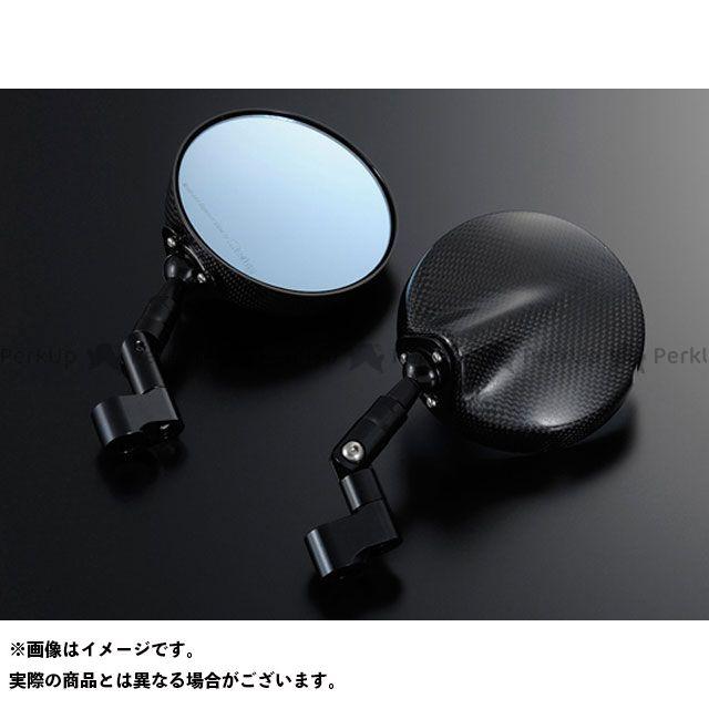 マジカルレーシング 汎用 NK-1ミラー・タイプ6ヘッド ショートステム ヘッド素材:綾織りカーボン製 ステムカラー:シルバー タイプ:逆ネジ10mm/逆ネジ10mm Magical Racing