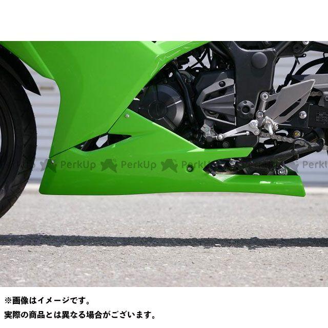 送料無料 才谷屋 ニンジャ250 カウル・エアロ アンダーカウル/ストリート 黒ゲル