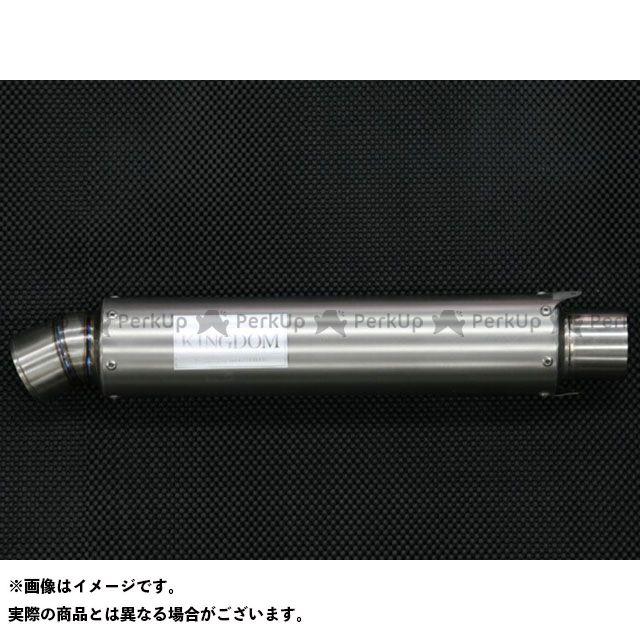 キングダム 汎用 レーシングチタンサイレンサー(パワーモード) タイプ:R-02 全長:350mm カラー:艶無し KINGDOM