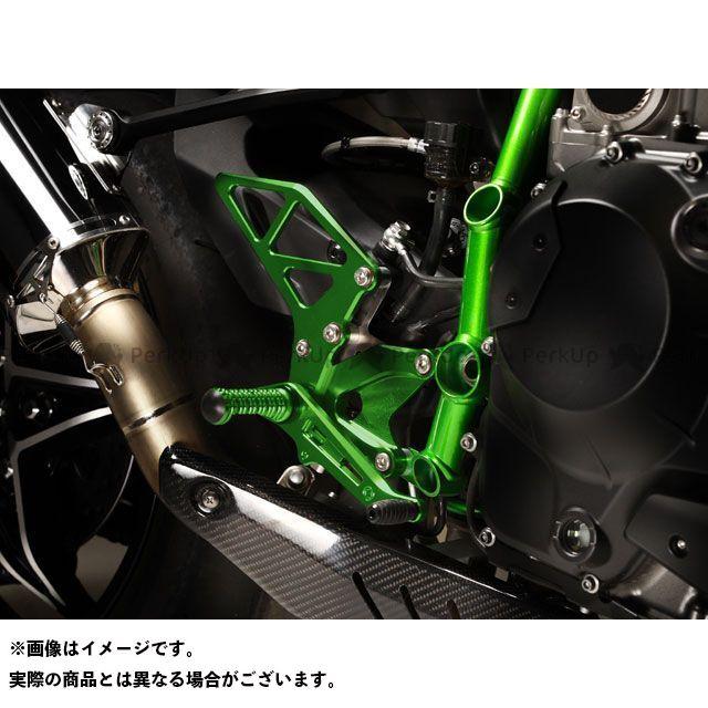 【エントリーで更にP5倍】モリワキ ニンジャH2(カーボン) バックステップキット カラー:メタリックグリーン MORIWAKI