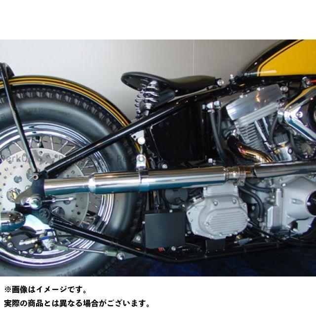 スーパーバイク SuperBike マフラー本体 ロードホッパー オリジナルスタイル ストレートスリップオンマフラー I'll be back.シリーズ(ステンレス製サイレンサーバンド付)