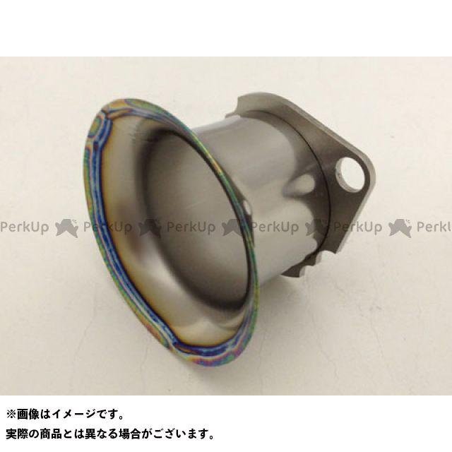 スーパーバイク 汎用 PWK28用フルチタンファンネル ポリッシュピュア(焼き色なし) 25mm SuperBike