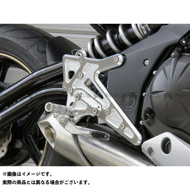 【エントリーで更にP5倍】オーバーレーシング ニンジャ400 バックステップ 4ポジション カラー:シルバー OVER RACING